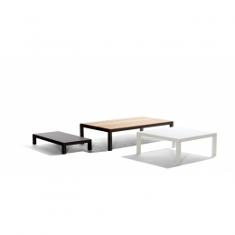 Natal Alu Low Table 121x61 h.35cm (col. cloudy white )