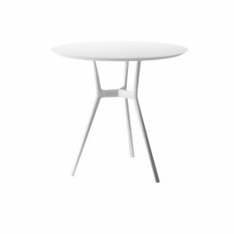 Branch Bistro Table dia.125cm - White base /Granite top
