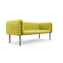 Ruche Sofa / low back - 170x101x h.65cm