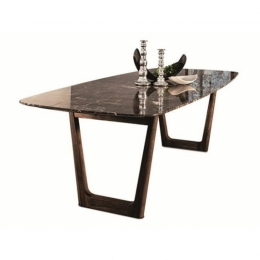 VIBIEFFE Opera 430 Dining Table 270 Emperador Marble Top / Walnut Base 270x95xh.74cm
